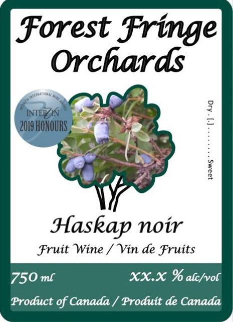 Forest Fringe Orchards Haskap Noir