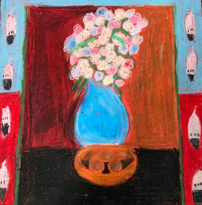 Suri Merasty, Untitled (after Dale Auger), oil pastel, PACI: Gr. 9