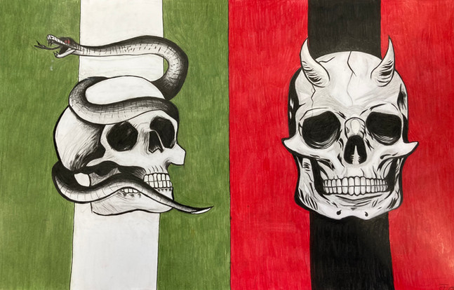 Jade Goodwill, Untitled, coloured pencil, ink, graphite