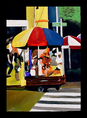 Maria Trapane, Tindero (street vendor), acrylic paint, École St. Mary High School