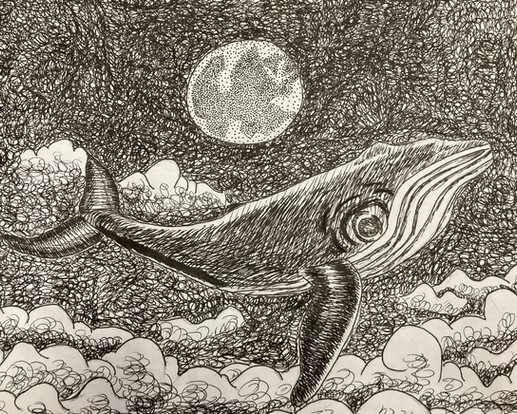 Chloe Stone, Untitled, ink, PACI: Gr. 10