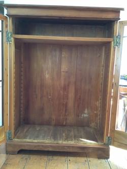 Inside restored tall cabinet