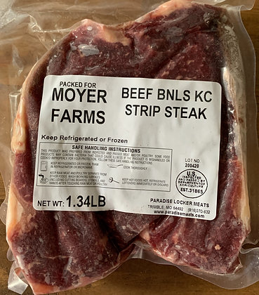 KC Strip Steaks - per pound