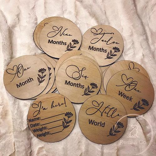 Heart Milestone Discs