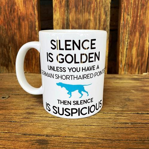 Silence is Golden GSP Mug