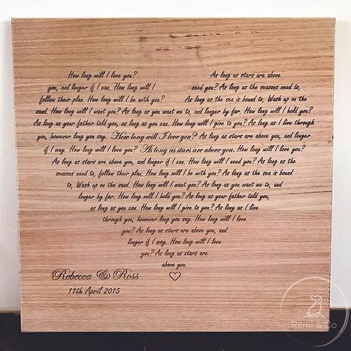 Wedding First Dance Song Lyrics Heart