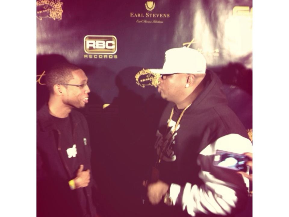 Jhawk and E-40 at release party