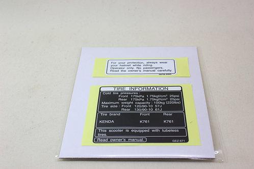 Caution Label set