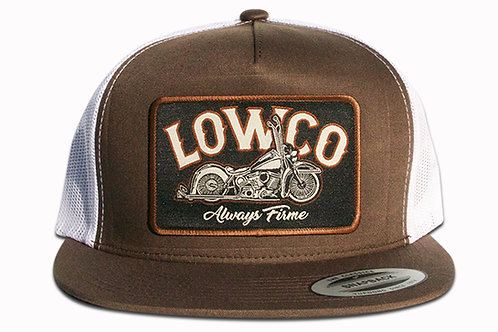 Lowco Brown/White Patch Trucker Hat