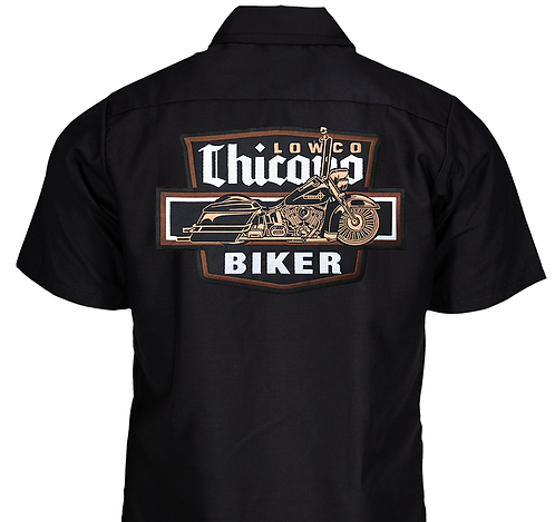 Chicano Biker Black Work Shirt
