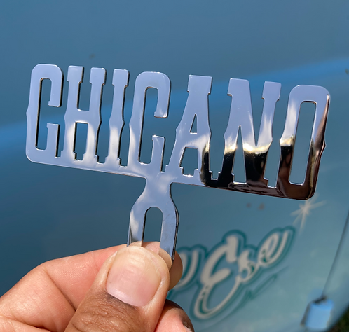 chicano lowrider license plate topper for viclas