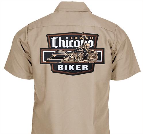 Chicano Biker Khaki Work Shirt