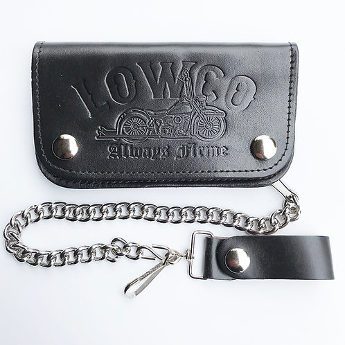 Black on Black Wallet w/ Chain