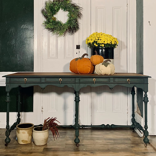 Library Table | Amsterdam Green Custom Blend by Annie Sloan
