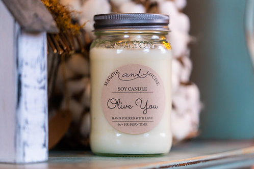 Olive You Candle
