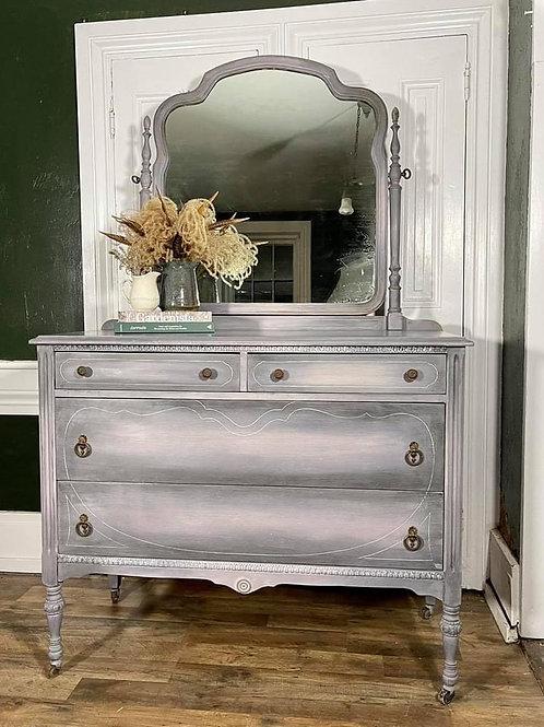 Dresser with Mirror | Graphite blend  by Annie Sloan Chalk Paint