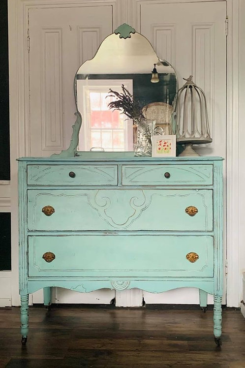 Dresser with Mirror | Eulalie's Sky by Miss Mustard Seed's Milk Paint