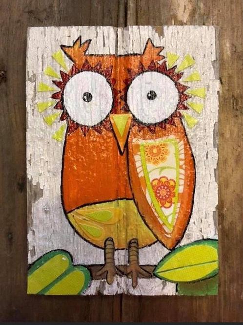 Mixed Media - Owl