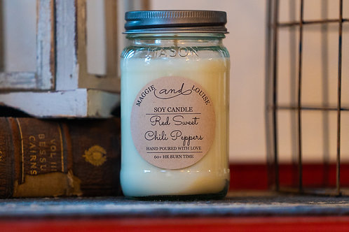 Red Sweet Chili Peppers Candle