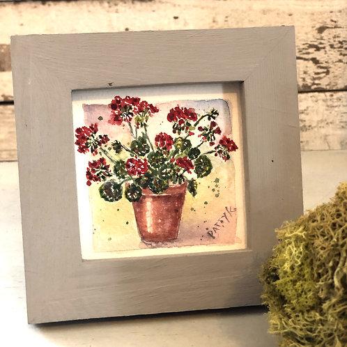 Geraniums | Original Watercolor