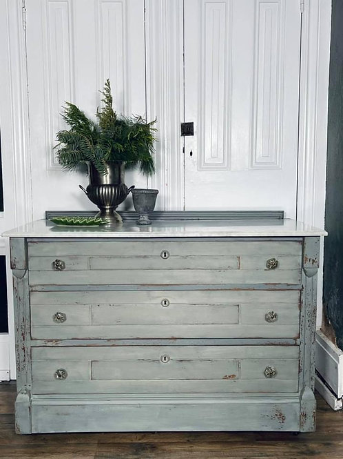 Dresser with Marble top | Trophy and Bergere by Miss Mustard Seed's Milk Paint