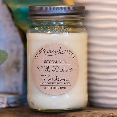 Tall Dark and Handsome Candle