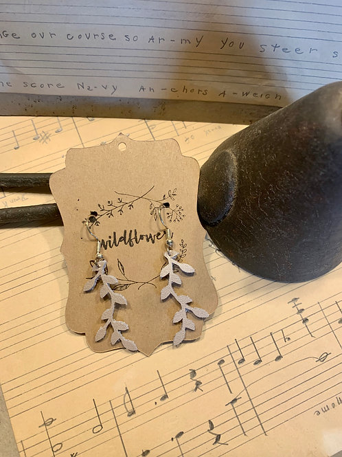 Leather Vine Earrings