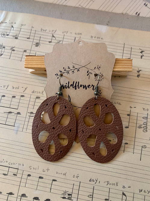 Leather with Cutouts Earrings