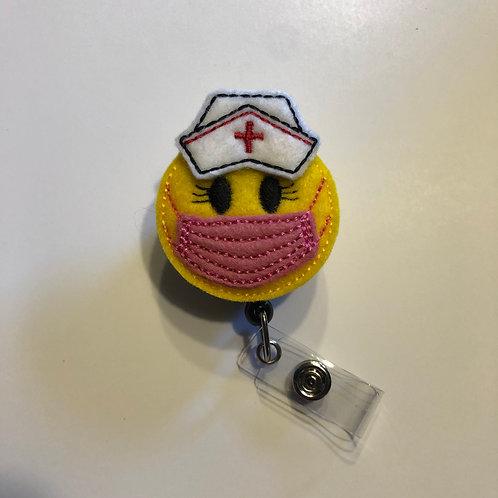 Mask & Nurse Cap Retractable Badge Reels for ID Tags