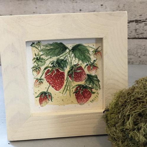 Strawberries | Original Watercolor