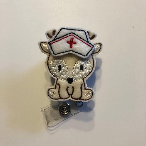 Deer Nurse Retractable Badge Reels for ID Tags