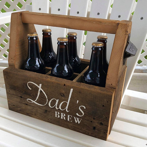 Beer Caddy from Reclaimed Wood