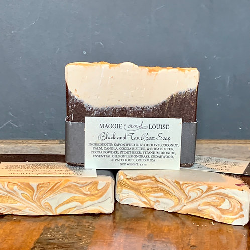 Black and Tan Beer Soap