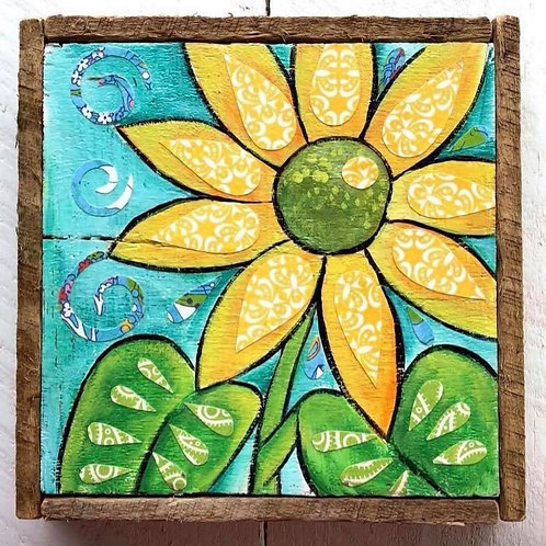Mixed Media - Sunflower