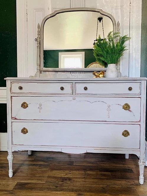 Dresser with Mirror | Paris Grey by Annie Sloan