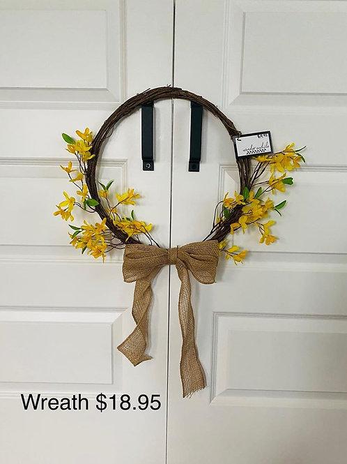 Grapevine & Forsythia Wreath