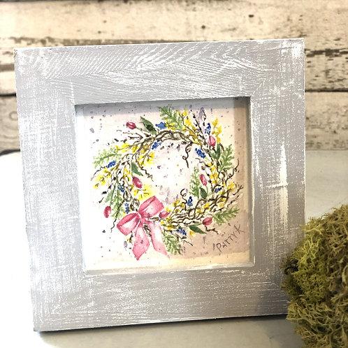 Tulip Wreath | Original Watercolor