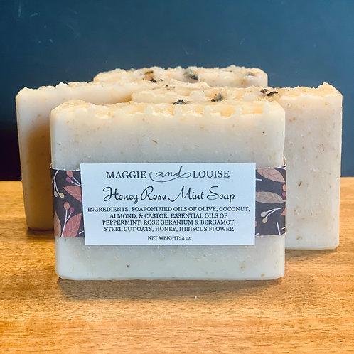 Honey Rose Mint Soap