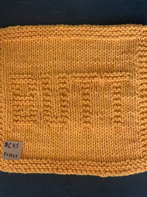 Hand Knit Washcloth, Face or Butt