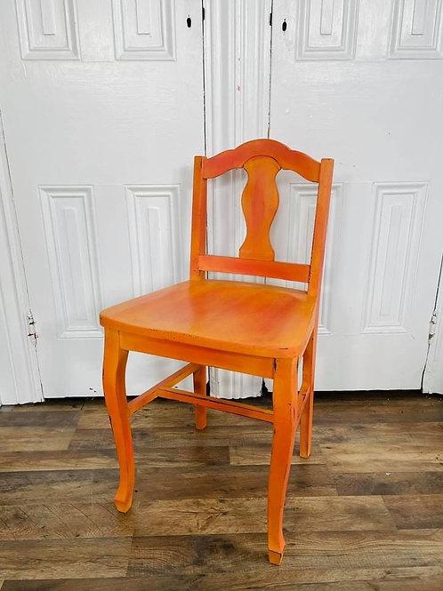 Chair | Capri Pink and Barcelona Orange blend by Annie Sloan