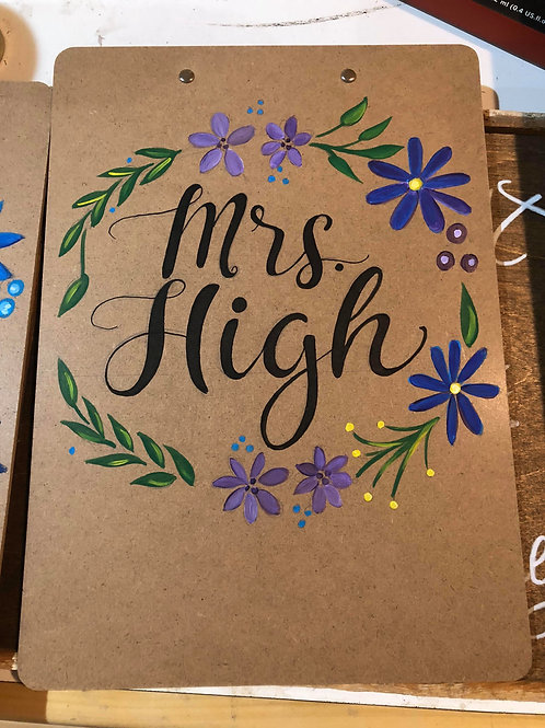 Personalized clipboard -Teacher Gift