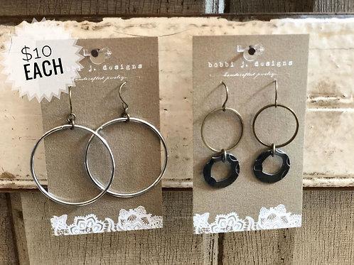 Choice of Circle Earrings