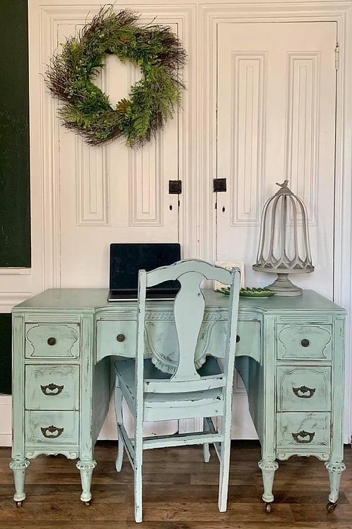 Desk & Chair | Svenska Blue by Annie Sloan
