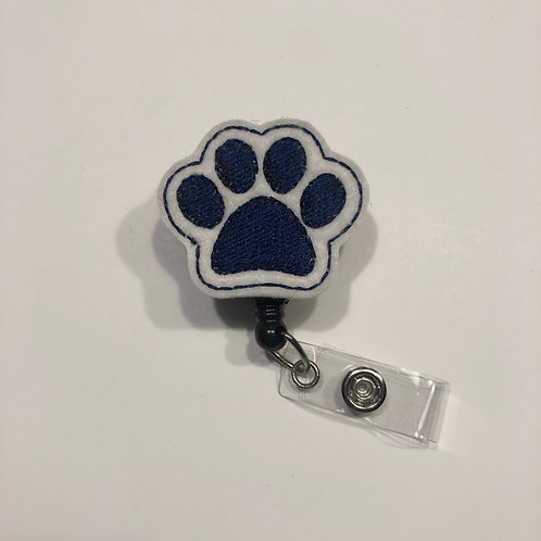 Paw Print Retractable Badge Reels for ID Tags