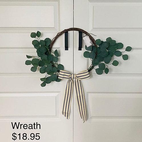 """15"""" Grapevine & Eucalyptus Wreath"""