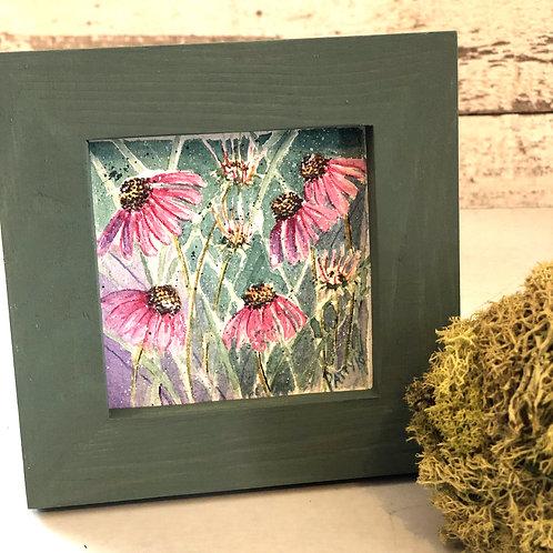 Pink Coneflower | Original Watercolor