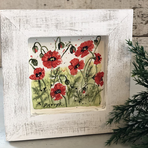 Red Poppies |  Original Watercolor