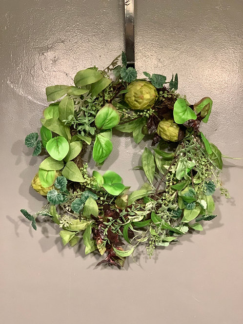 """22"""" Grapevine Wreath with Permanent Greens"""