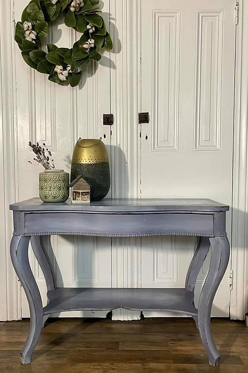 Table   Louis Blue & Old Violet by Annie Sloan