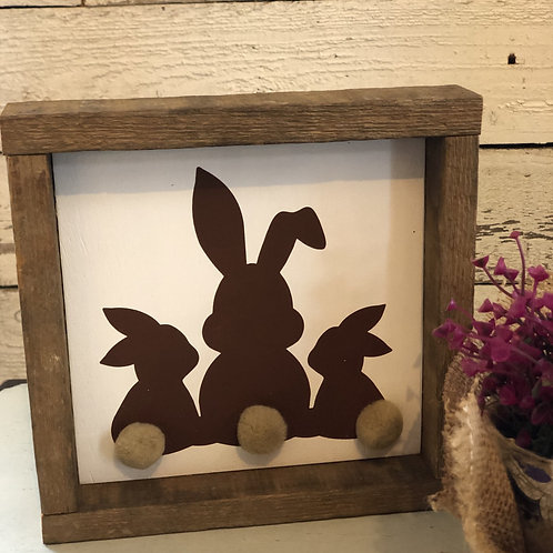 3 Bunny Butts sign